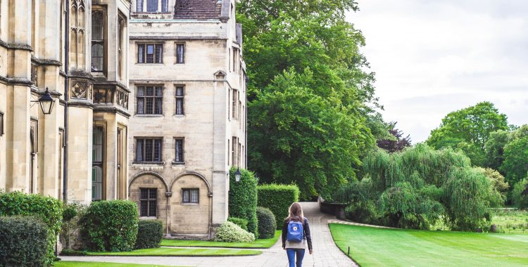 Girl walking to class at a therapeutic boarding school